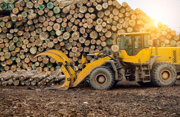 Fábrica de processamento de madeira