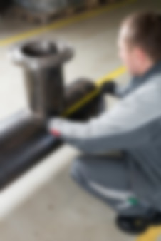 Fábrica de produção industrial tema borrão de fundo