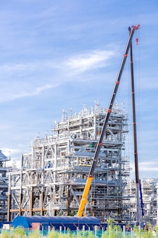 Fábrica de refinaria de gás natural liquefeito