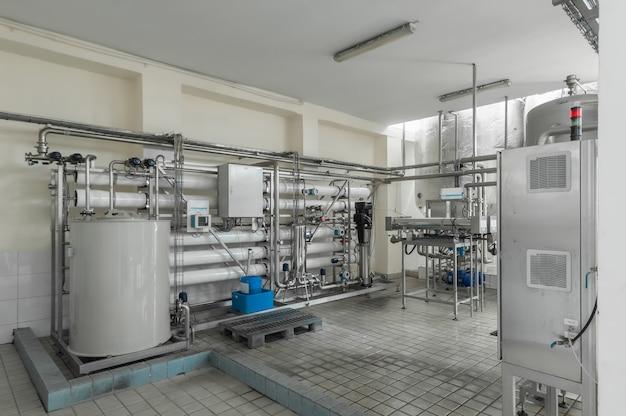 Fábrica e planta de produção industrial para a fabricação de bebidas