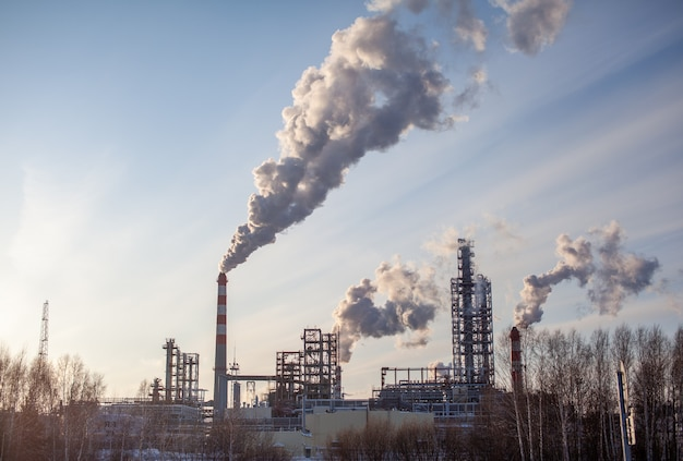 Fábrica industrial petroquímica da indústria pesada