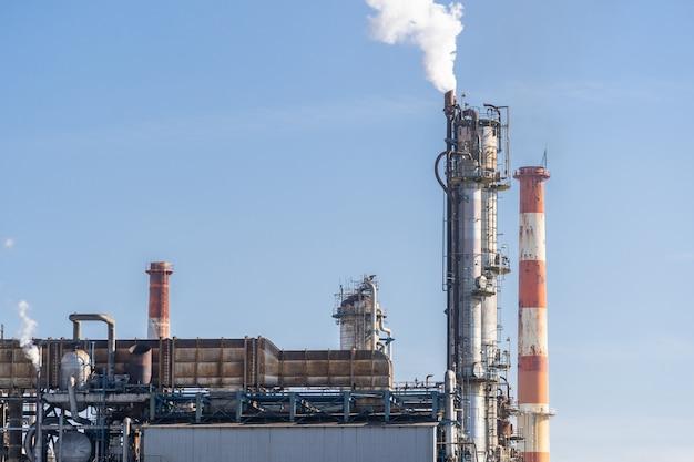 Fábrica petroquímica de petróleo