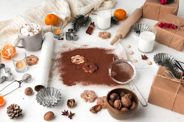 Fabricação de padaria caseira, biscoitos de gengibre