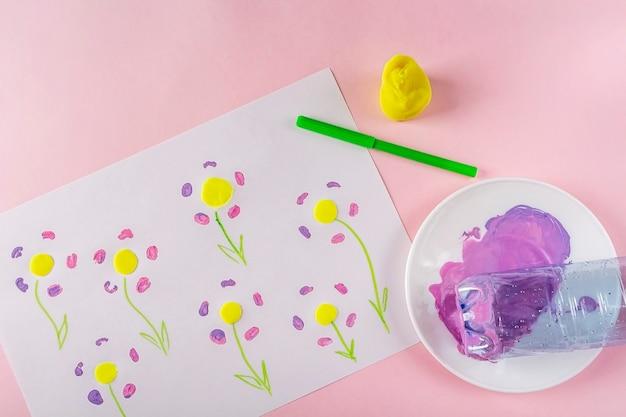Faça você mesmo e a criatividade das crianças instruções passo a passo