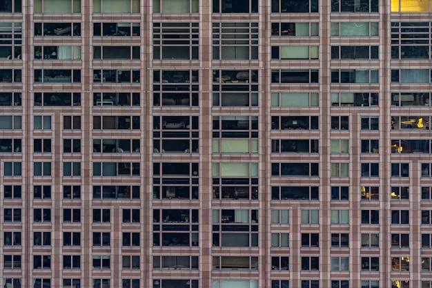 Fachada da janela prédio de escritórios