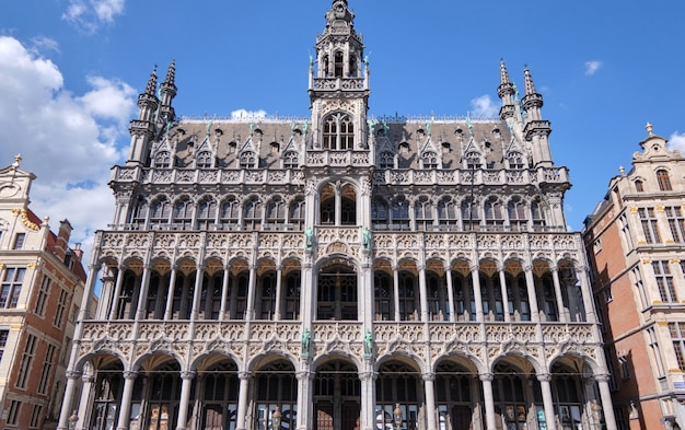 Fachada de edifícios da grand place bruxelas, bélgica