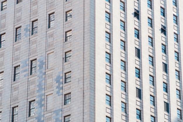 Fachada, de, highrise, edifício apartamento