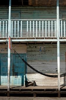 Fachada, de, um, loja, puerto, baquerizo, moreno, san cristobal, ilha, ilhas galapagos, equador