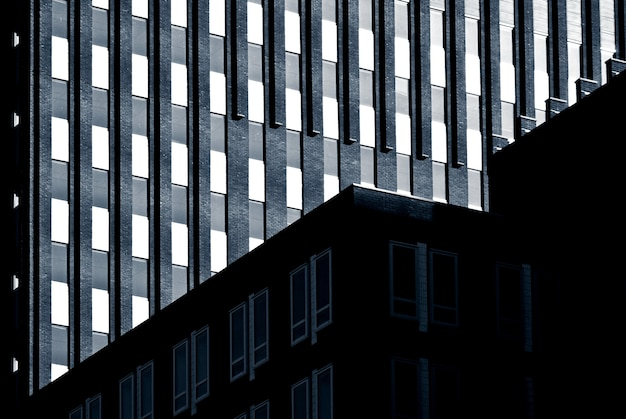 Fachadas de edifícios residenciais em rotterdam, holanda