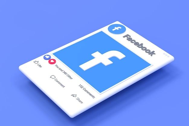 Fackbook post screen design e reações no facebook