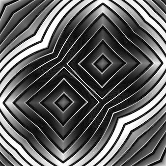 Faixa de metal abstrata cinza de geometria de cor cromada. formas lindas curvando linhas