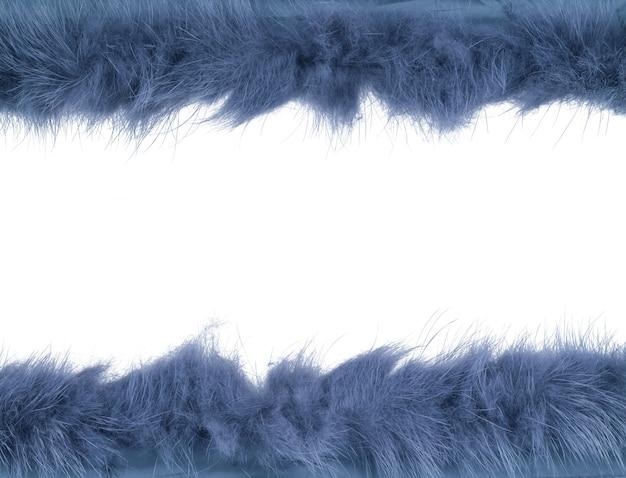 Faixa de pele isolada sobre o fundo branco