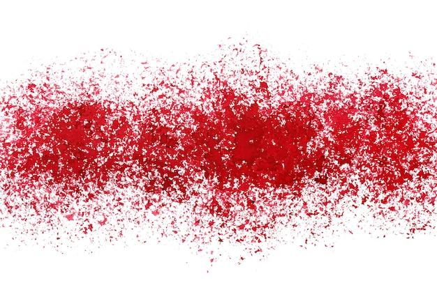 Faixa de tinta vermelha pulverizada. fundo abstrato do grunge. ilustração raster