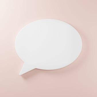 Fala, texto, bolha, fala, caixa de bate-papo, pensando, sinal, símbolo, ilustração 3d, renderização
