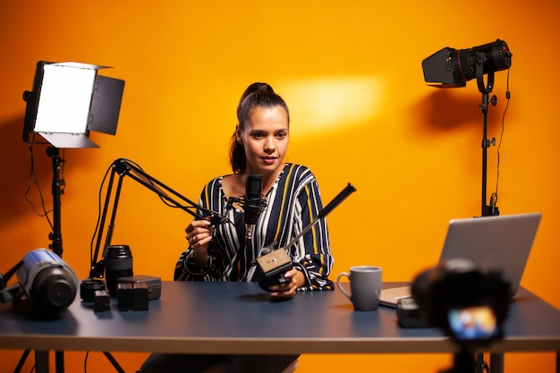Falando sobre tecnologia de videografia e gravação de videoblog
