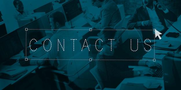 Fale conosco conceito de assistência de serviço de suporte de comunicação
