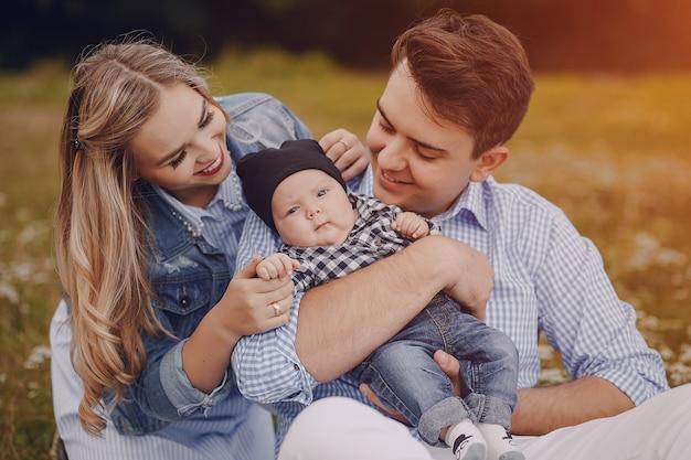 Família com recém-nascidos