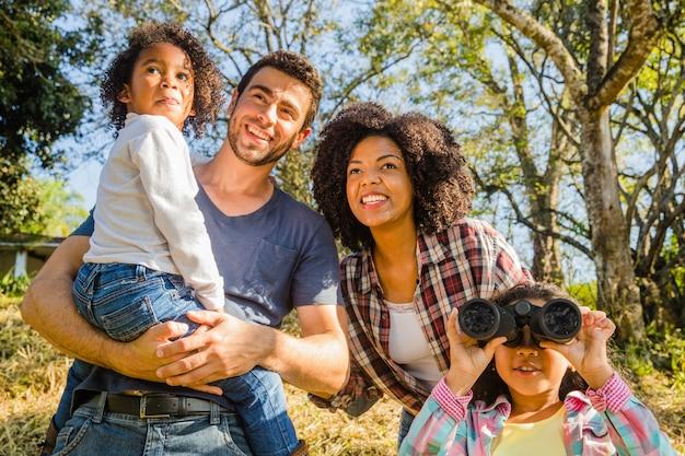 Família em excursão