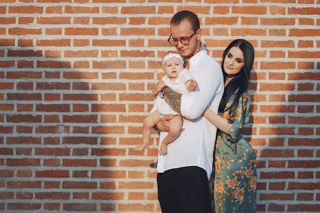 Família em uma cidade