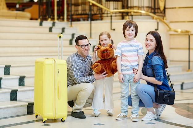 Família em viagem