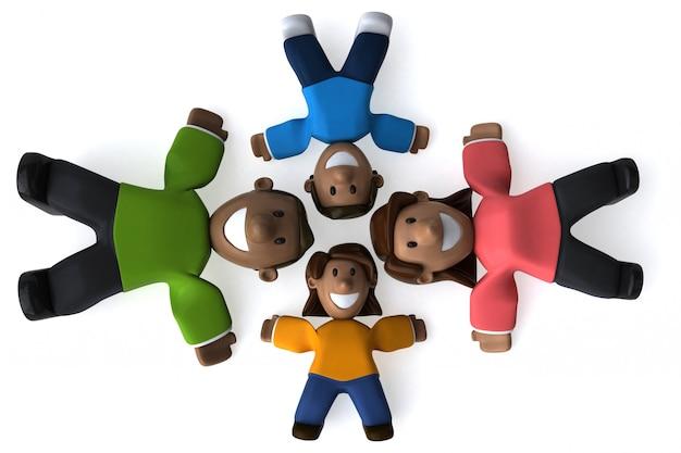 Família feliz - ilustração 3d