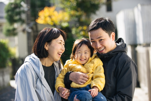 Família japonesa em tóquio