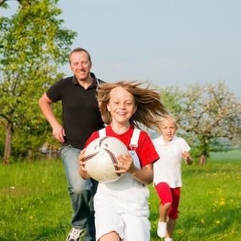 Família, jogando ballgames