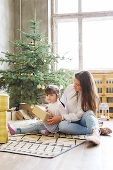 Família se divertindo no dia de natal