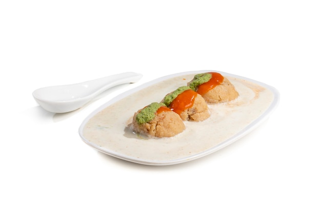 Famosa culinária indiana dahi vada
