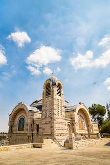 Famosa igreja de são pedro em gallicantu em jerusalém, israel