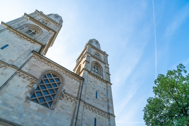 Famosa igreja grossmunster em zurique