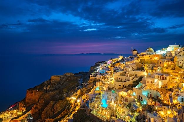 Famoso destino turístico grego oia grécia