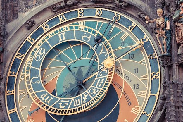 Famoso relógio astronómico em praga