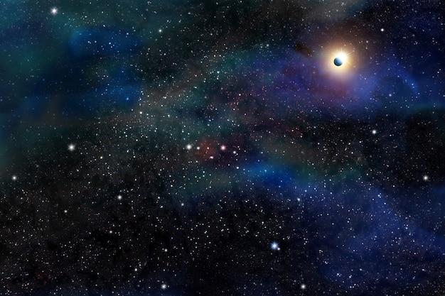 Fantasia de espaço e planeta