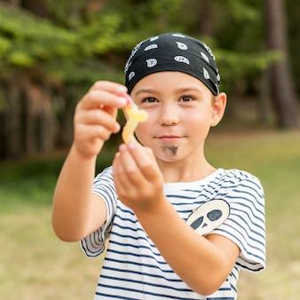 Fantasia de pirata de halloween para menino