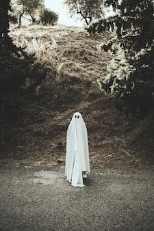 Fantasma em pé na rota
