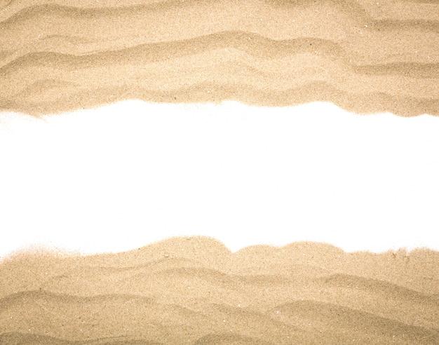 Fantástica moldura feita com areia
