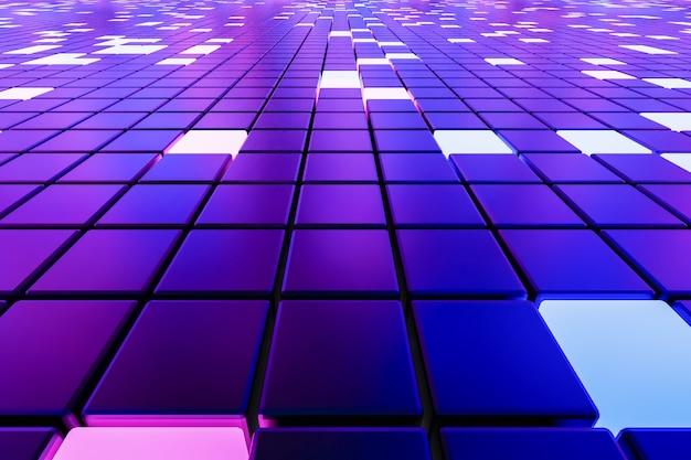 Fantástico fundo abstrato de cubos e painéis de luz d ilustração