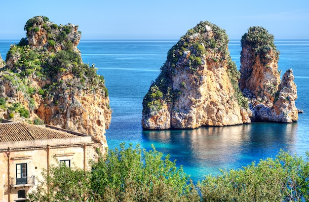 Faraglioni em scopello, sicília