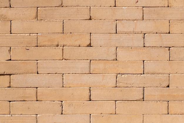 Faraó templo de parede, padrão de tijolos amarelos