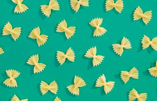 Farfalle massas plana leigos padrão