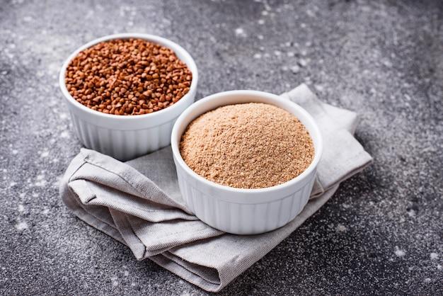 Farinha de trigo sarraceno sem glúten
