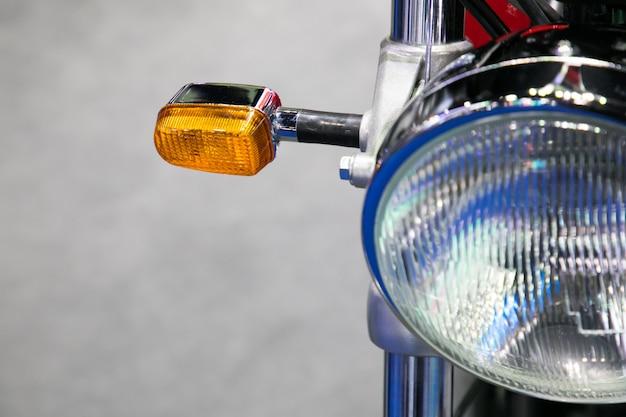 Farol clássico de motocicleta vintage