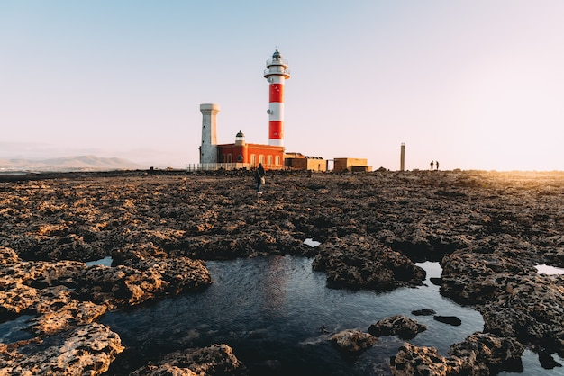 Farol de el cotillo, fuerteventura, ilhas canárias, espanha