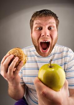 Fast food vs alimentação saudável