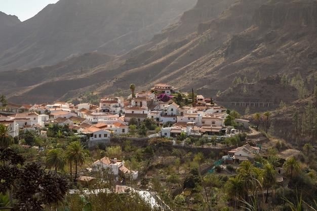 Fataga, uma aldeia de montanha em gran canaria, ilhas canarias, espanha
