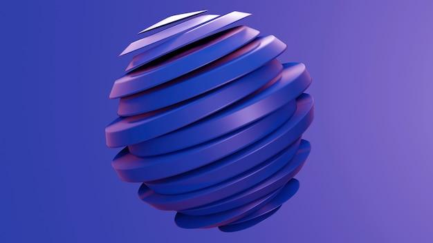 Fatia abstrata de esfera com cor roxa