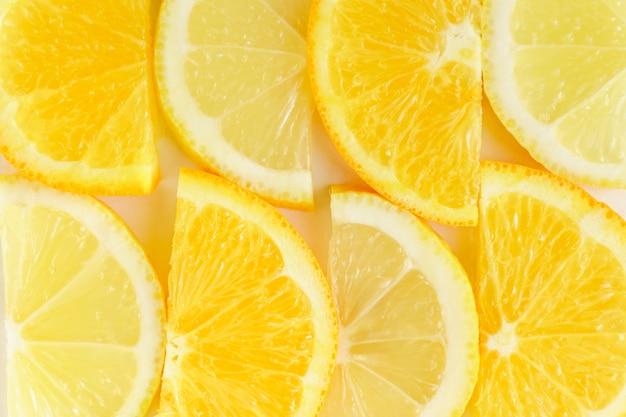 Fatia de citrinos, laranjas e limões ibackground