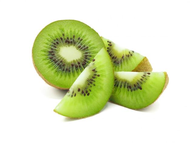 Fatia de fruta kiwi suculenta deliciosa e saudável