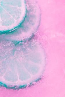 Fatia de limão congelada